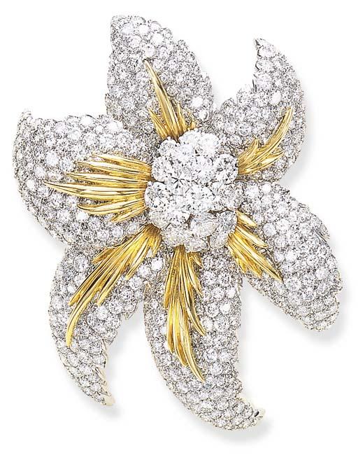 AN ATTRACTIVE DIAMOND FLOWER B