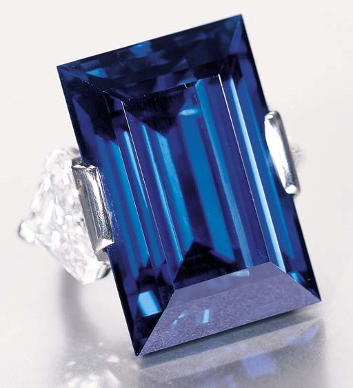 The Rockefeller Sapphire — a magnificent sapphire ring. Sold for $3,031,000 on 11 April 2001 at Christie's in New York