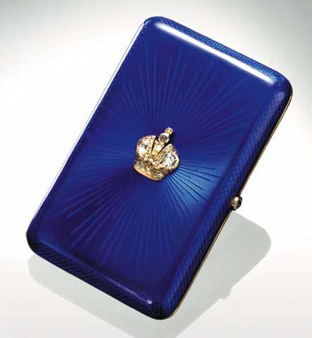 A JEWELLED GOLD GUILLOCHÉ ENAM