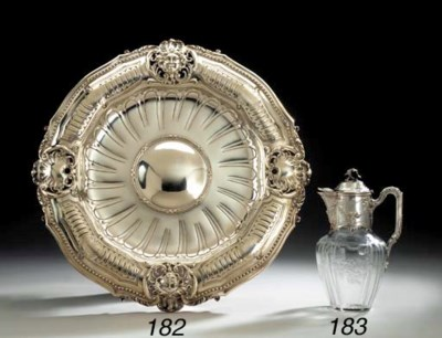 A FRENCH SILVER SIDEBOARD DISH