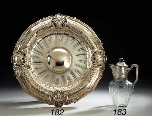 A FRENCH SILVER-MOUNTED GLASS