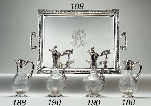 A FRENCH SILVER TEA TRAY
