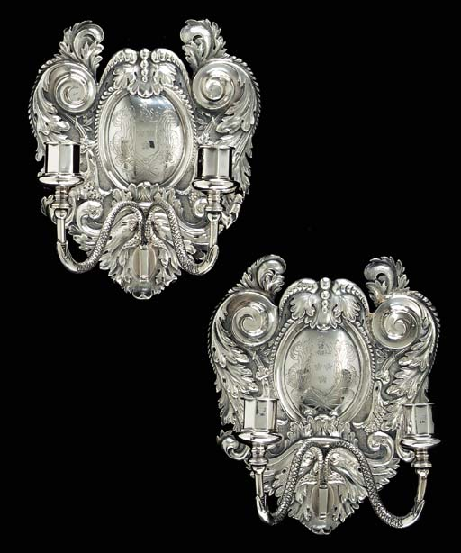 A PAIR OF VICTORIAN SILVER TWO