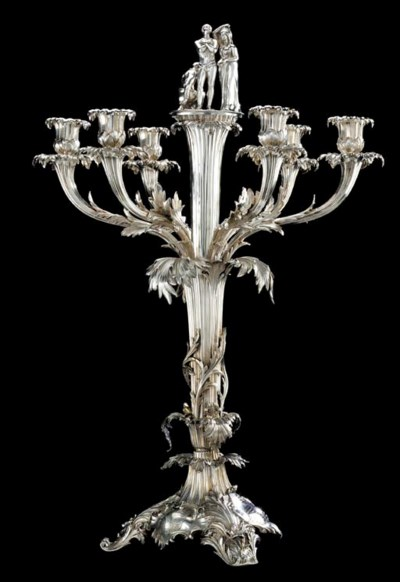 A William IV silver six-light