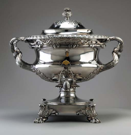 A George IV silver tea urn**