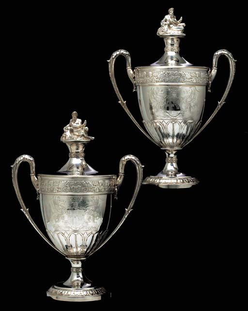 A Pair of George III silver cu