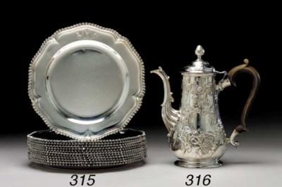 A GEORGE III IRISH SILVER COFF