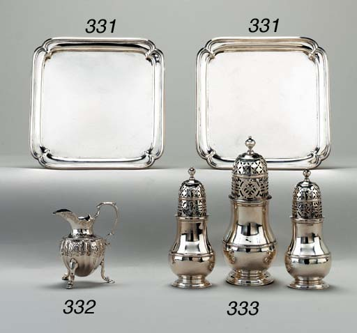 A PAIR OF GEORGE II SILVER WAI