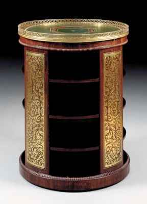 A REGENCY BRASS-INLAID ROSEWOO