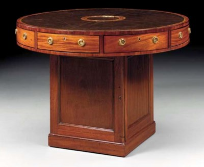 A MAHOGANY RENT TABLE