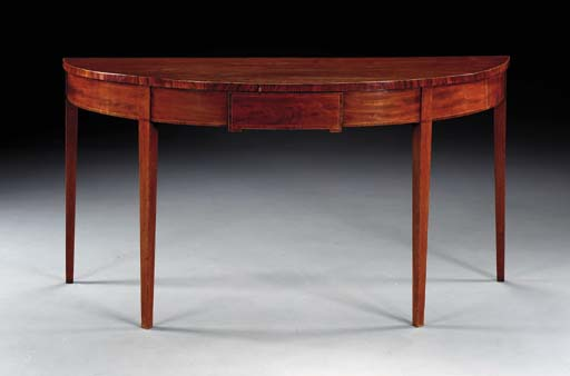 A GEORGE III MAHOGANY SERVING-