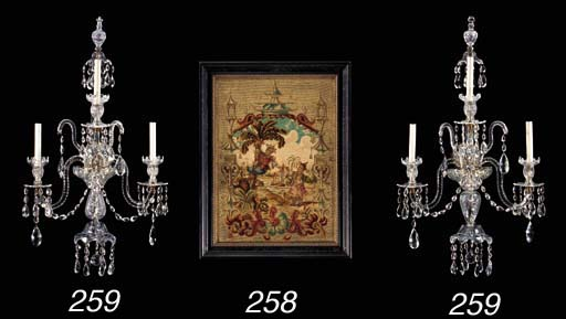 A CHINOISERIE NEEDLEWORK AND A