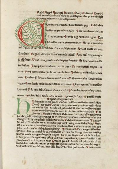 BOETHIUS, Anicius Manlius Torq