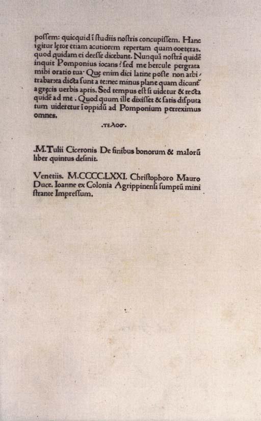 CICERO, Marcus Tullius (106-43