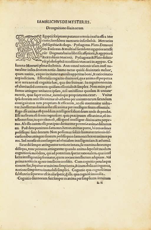 IAMBLICHUS (ca. 250-ca. 325).