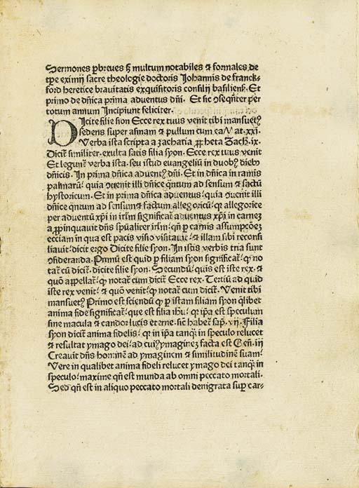 JOHANNES DE FRANKFORDIA (ca. 1