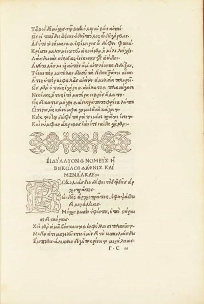 THEOCRITUS (1st half of 3rd ce