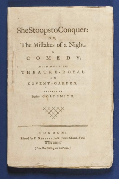 GOLDSMITH, Oliver (1728-1774).
