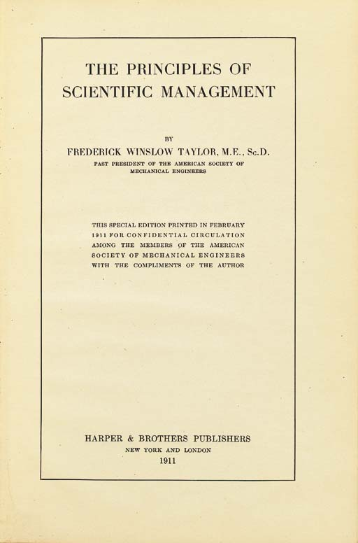 TAYLOR, Frederick Winslow (185
