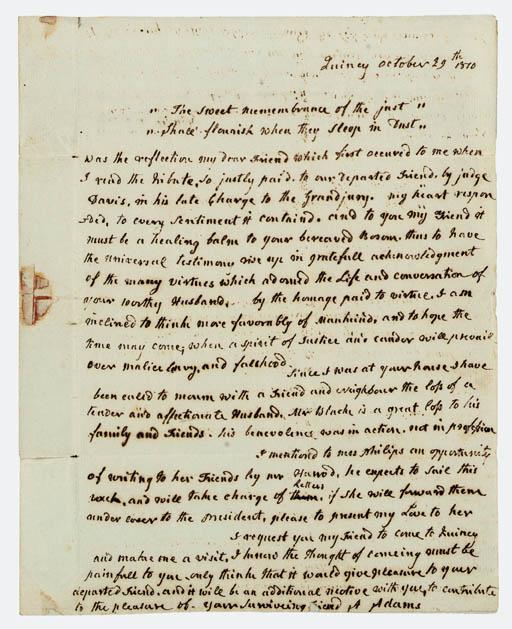 ADAMS, Abigail (1744-1818), Fi