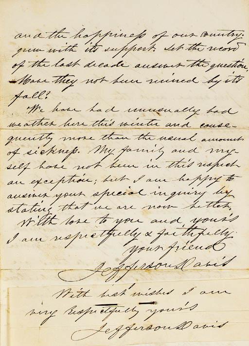 [CIVIL WAR]. DAVIS, Jefferson.
