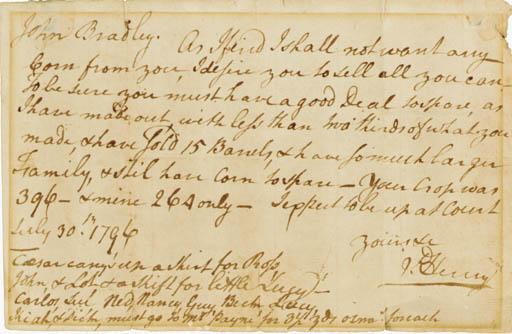 HENRY, Patrick (1736-1799), Pa