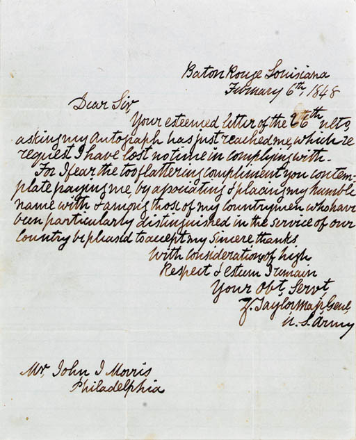 TAYLOR, Zachary (1784-1850),Pr