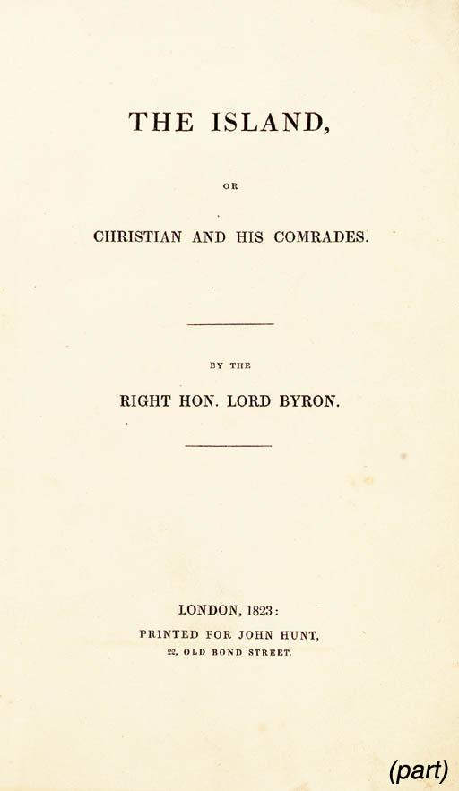 BYRON, George Gordon Noel. The