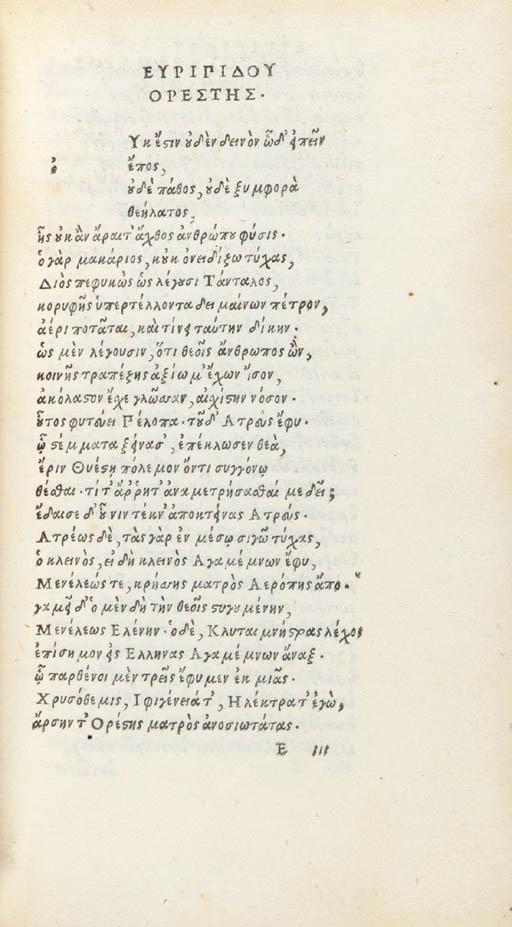 EURIPIDES (ca. 484-406 B.C.) T