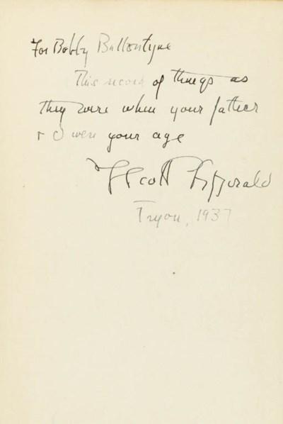 FITZGERALD, F. Scott. This Sid
