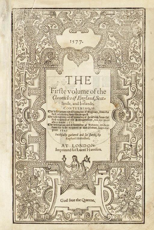 HOLINSHED, Raphael (d. ca. 158
