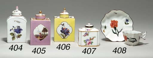 A MEISSEN TEA CADDY AND COVER