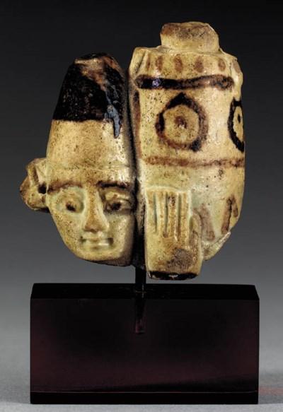 A FRAGMENTARY EGYPTIAN FAIENCE