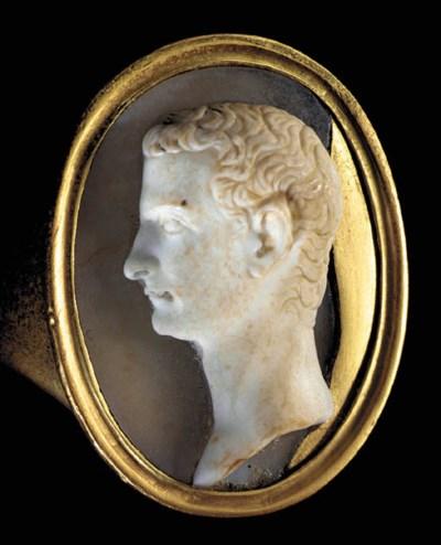 A ROMAN ONYX CAMEO PORTRAIT OF