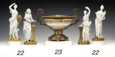 AN ORMOLU-MOUNTED SÈVRES BOWL