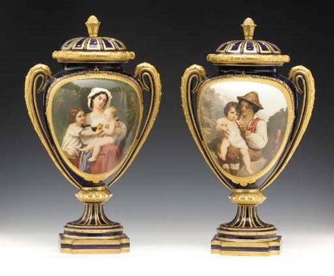 A PAIR OF ROYAL WORCESTER COBA