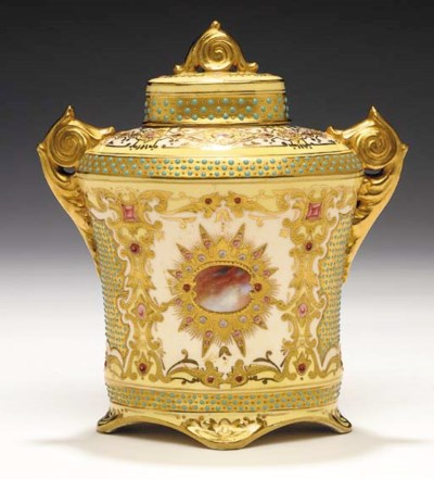 A COALPORT 'JEWELLED' IVORY, Y