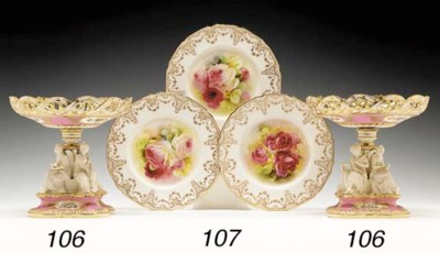TEN ROYAL DOULTON SERVICE PLAT