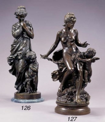 A French bronze group emblemat