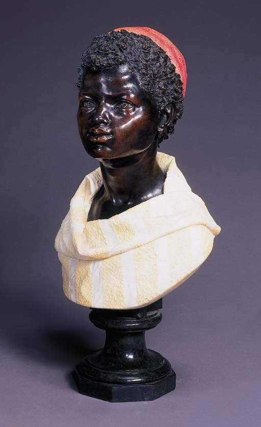 An Italian bronze, white and t