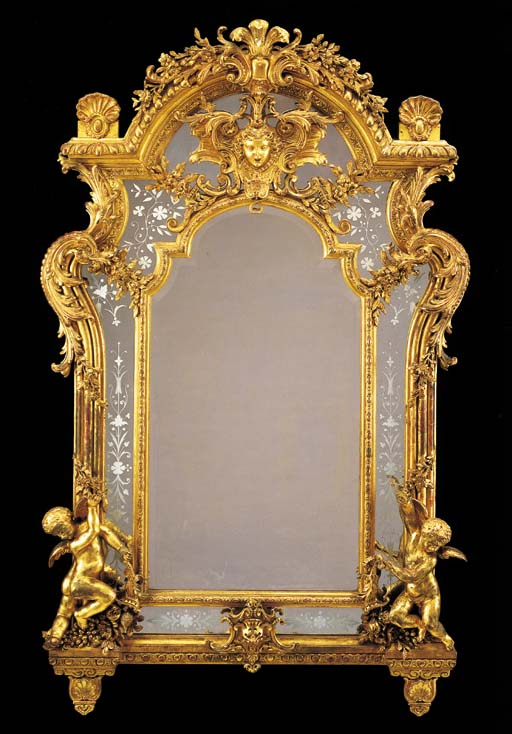 A BAROQUE STYLE GILTWOOD AND G