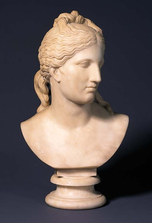 An English Carrara marble bust