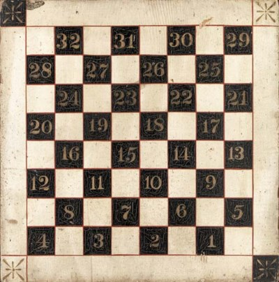A PAINT-DECORATED GAMEBOARD