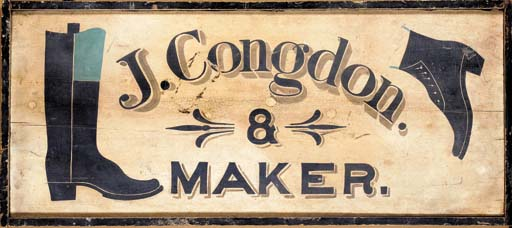 A PAINTED TRADE SIGN
