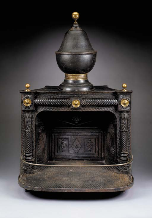 A FRANKLIN-STYLE CAST IRON STO