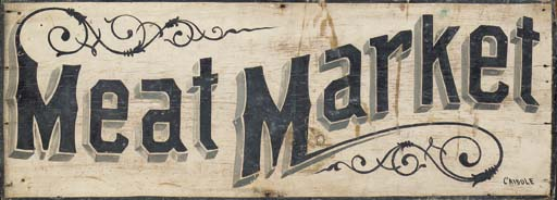 PAINTED WOOD TRADE SIGN