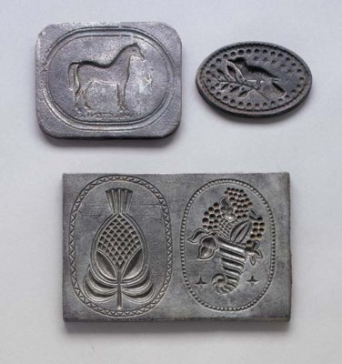 THREE CAST-IRON FOOD MOLDS
