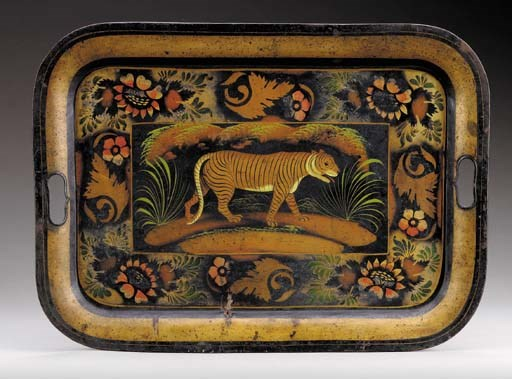 PAINT-DECORATED TOLE TRAY