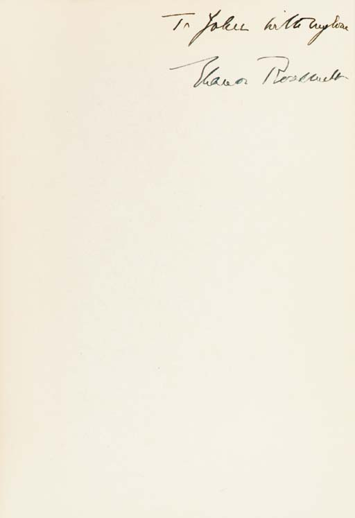 ROOSEVELT, Eleanor. This Troubled World. New York: H.C. Kinsey, 1938. 8vo. Original cloth (slight soiling).