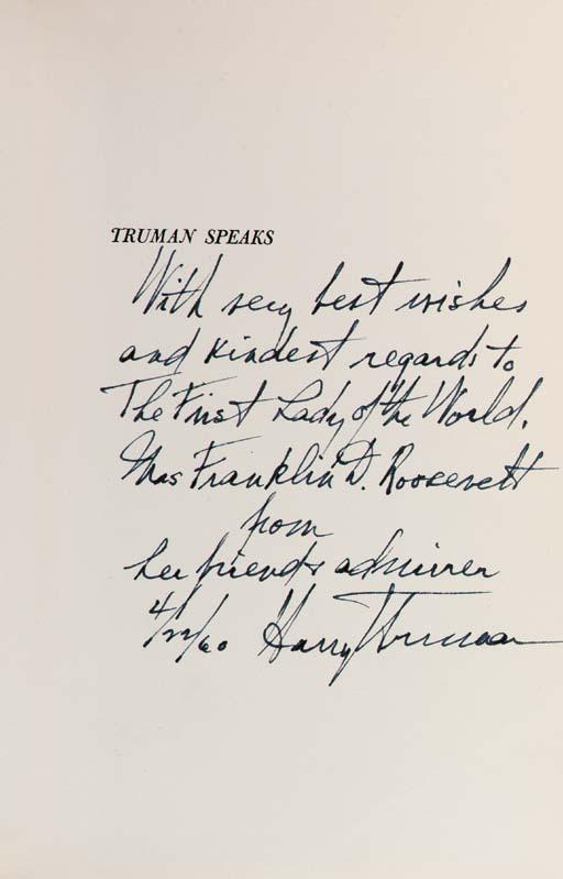 TRUMAN, Harry S. Truman Speaks